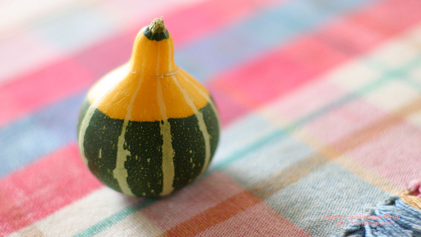 ランチョンマットに置いたかぼちゃの壁紙