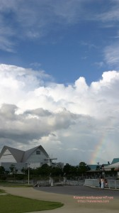 入道雲と虹のiPhone用壁紙画像2