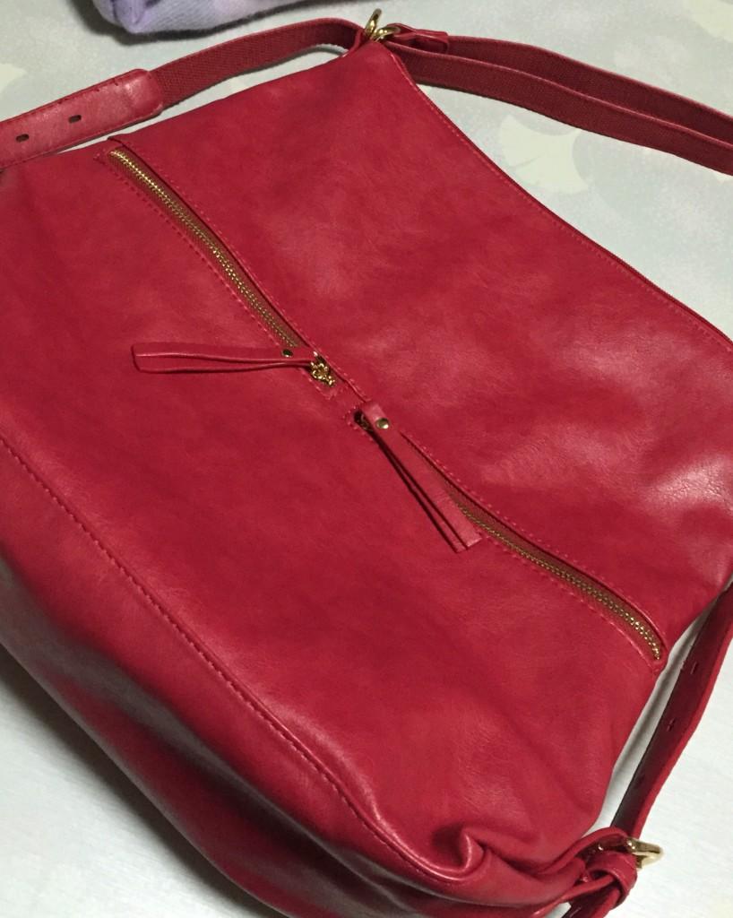 ローズピンクのバッグ買いました♪